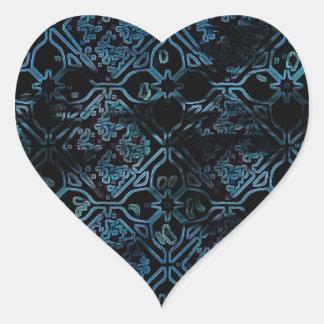 Cool Grunge Medieval Print Heart Sticker