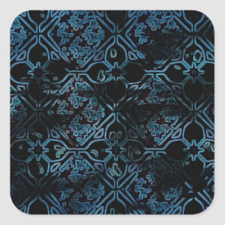 Cool Grunge Medieval Print Square Sticker