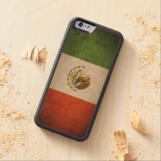 Cool Grunge Mexico Mexican Flag Carved® Maple iPhone 6 Bumper Case