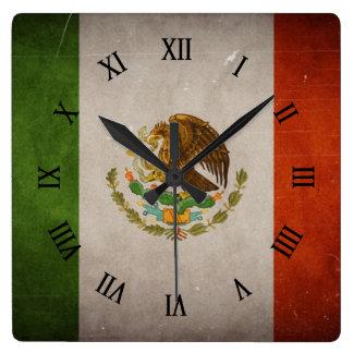 Cool Grunge Mexico Mexican Flag Wall Clocks