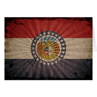 Cool Grunge Missouri Flag Note Card