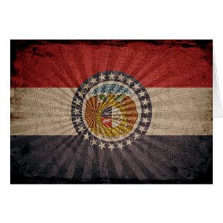 Cool Grunge Missouri Flag Note Card