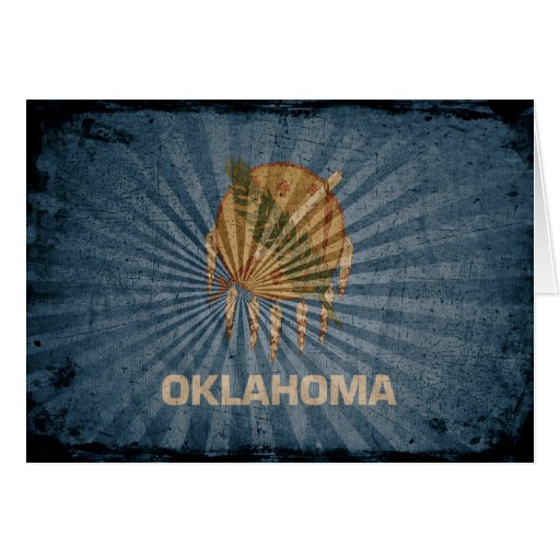 Cool Grunge Oklahoma Flag Cards