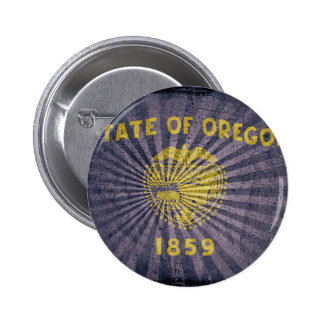 Cool Grunge Oregon Flag Buttons