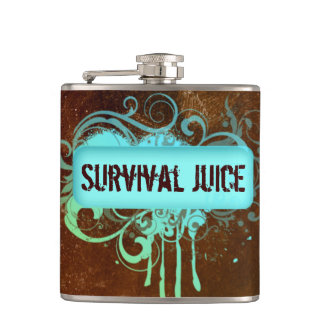 Cool Grunge Paint Drip Copper Flask