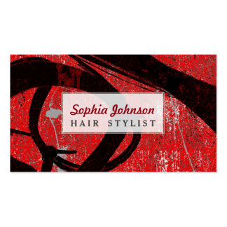 Cool Grunge Red Graffiti Pack Of Standard Business Cards