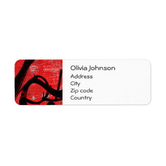 Graffiti shipping address return address labels for Cool return address labels