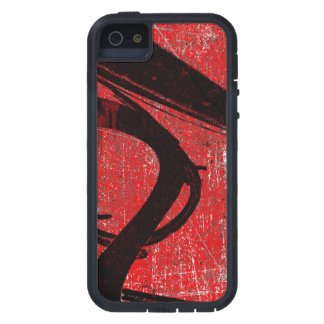 Cool Grunge Red Graffiti Tough Xtreme iPhone 5 Case