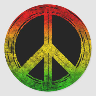 Cool Grunge Reggae Rasta Peace Symbol Stickers