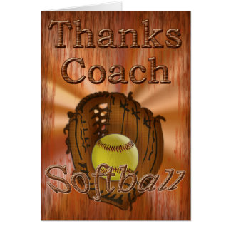 Cool Grunge Softball Coach Thank You Cardchee Card