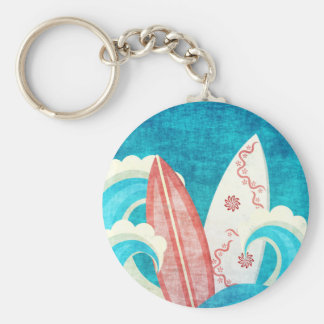 Cool Grunge Surfboards Key Ring