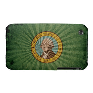 Cool Grunge Washington Flag iPhone 3 Cases