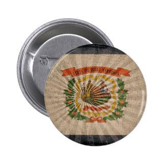 Cool Grunge West Virginia Flag Pins