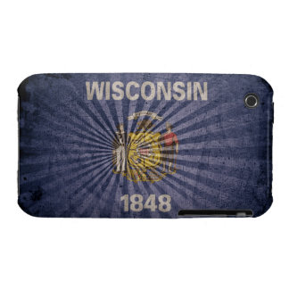 Cool Grunge Wisconsin Flag Case-Mate iPhone 3 Case