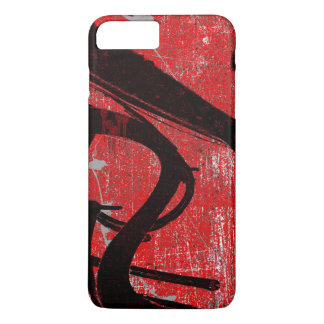 Cool Grungy Red Graffiti iPhone 7 Plus Case