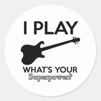 cool guitar electric classic round sticker