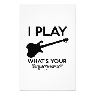cool guitar electric stationery