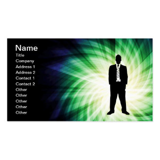Cool Guy in Suit Silhouette Business Cards
