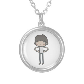 Cool Guy Round Pendant Necklace