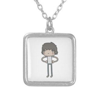 Cool Guy Square Pendant Necklace