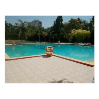 Cool Hakuna Matata Pool Side I love My Family jpg Post Cards