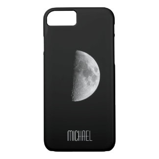 Cool Half Moon Personalized Name iPhone 8/7 Case