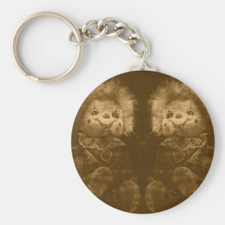 COOL HALLOWEEN [haunted dolls] Basic Round Button Key Ring