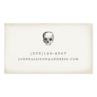 Cool Hand Drawn Rustic Skull Calling Card Business Cards