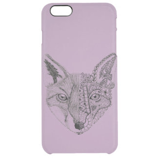 Cool Hand Illustrated Artsy Fox Clear iPhone 6 Plus Case