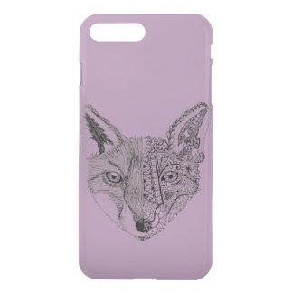 Cool Hand Illustrated Artsy Fox iPhone 7 Plus Case