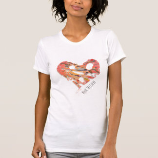 Cool Heart with Your Text T-Shirt