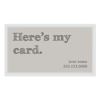 "Cool ""Here's My Card"" Networking Groupon Business Card Template"