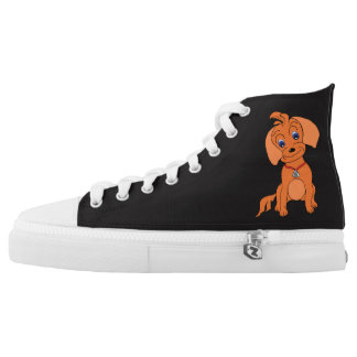 Cool High Top Shoes - Happy (Size 4-13) Printed Shoes