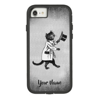 Cool Hip Cat Vintage Black White iPhone 8/7 Case