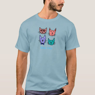 Cool Hip Colorful Band Cats T-Shirt