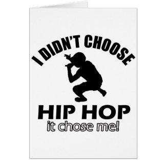 Cool Hip Hop designs Greeting Card