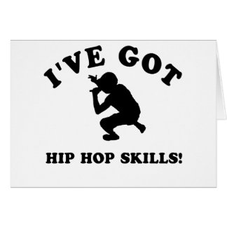 COOL HIP HOP SKILLS designs Greeting Cards