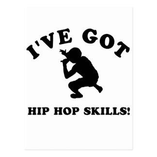 COOL HIP HOP SKILLS  designs Postcard