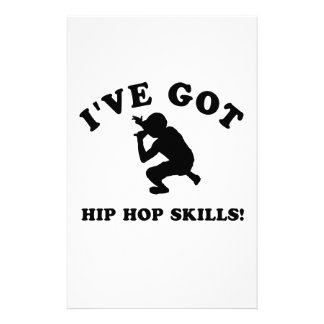 COOL HIP HOP SKILLS  designs Stationery