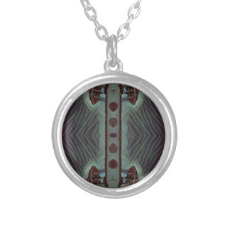 Cool Hip Modetn Abstract Artistic Design Silver Plated Necklace