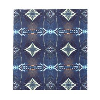 Cool Hip Trendy Blue Tribal Pattern Notepad