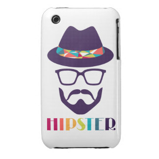 cool hipster cool hat glasses fun beard iPhone 3 covers
