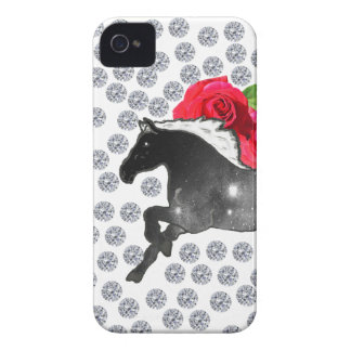 Cool Hipster Diamonds Roses Horse Nebula Galaxy iPhone 4 Cover