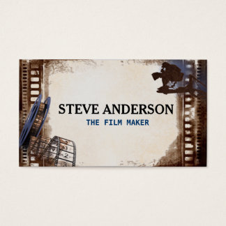 Cool Hipster Grungy Film Business Movie Maker Business Card