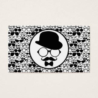 Cool Hipster Surrounded by Eyeglasses Business Card