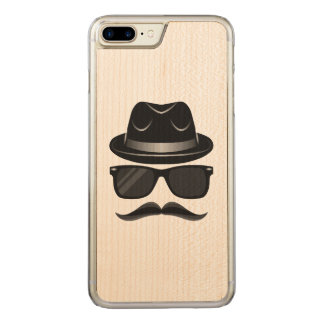 Cool Hipster with mustache, hat and sunglasses Carved iPhone 7 Plus Case