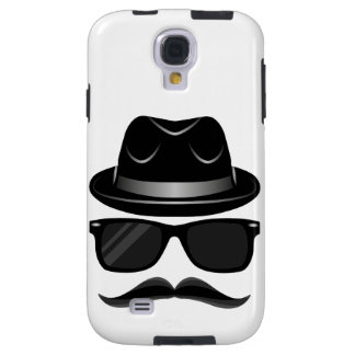 Cool Hipster with mustache, hat and sunglasses Galaxy S4 Case