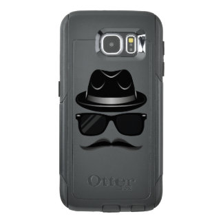 Cool Hipster with mustache, hat and sunglasses OtterBox Samsung Galaxy S6 Case