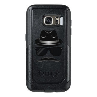 Cool Hipster with mustache, hat and sunglasses OtterBox Samsung Galaxy S7 Case