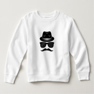 Cool Hipster with mustache, hat and sunglasses Sweatshirt